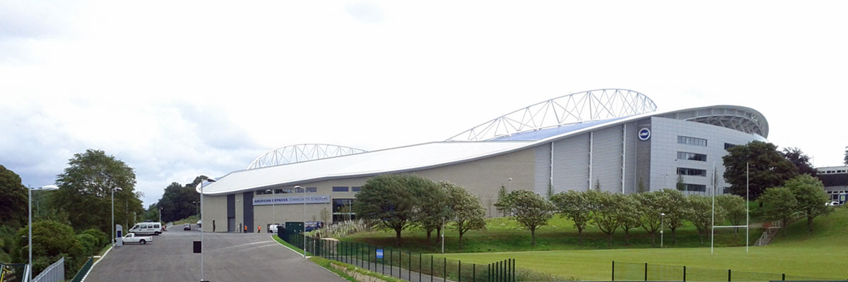 Arriving at the Amex Stadium